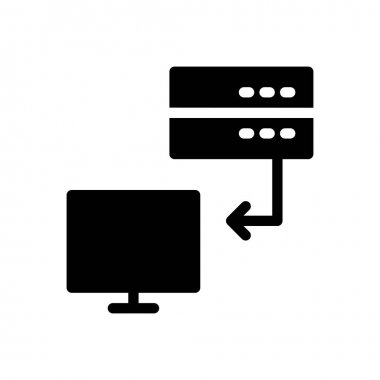 Server  Icon for website design and desktop envelopment, development. premium pack. icon