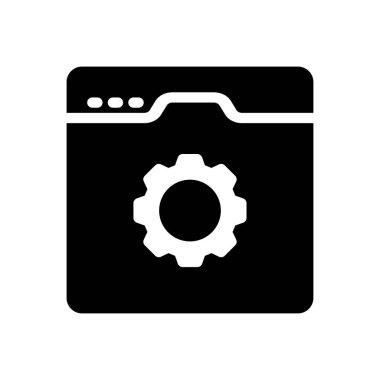 Browser  Icon for website design and desktop envelopment, development. premium pack. icon