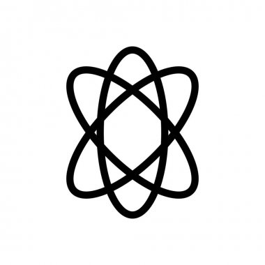 Atom Icon for website design and desktop envelopment, development. premium pack. icon