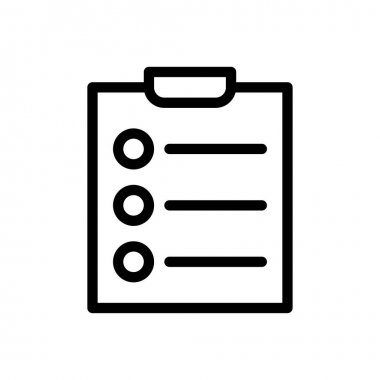 Clipboard list Icon for website design and desktop envelopment, development. premium pack. icon