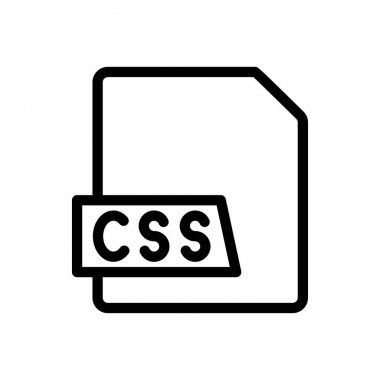 CSS file  Icon for website design and desktop envelopment, development. premium pack. icon
