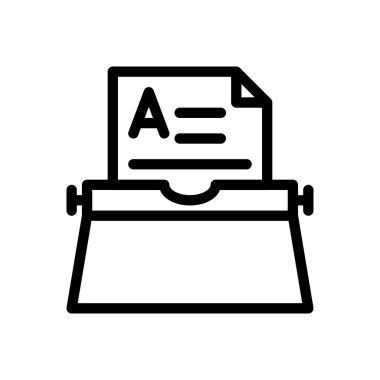 Typewriter Icon for website design and desktop envelopment, development. premium pack. icon