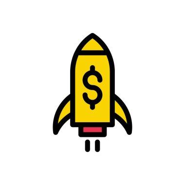 Startup Icon for website design and desktop envelopment, development. premium pack. icon