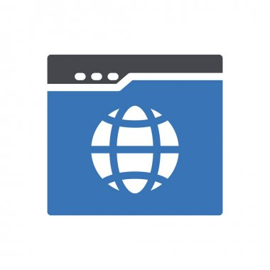 Browser  Icon for website design and desktop envelopment, development. premium pack icon