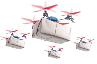 Delivery drone swarm