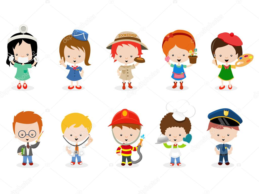 Kids Career Set Stock Vector C Pinarince 106103970