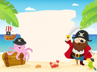Pirate Template Illustration