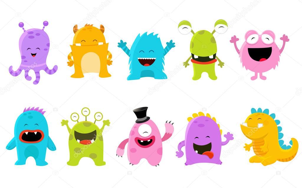 cute monster set stock vector pinarince 108730122