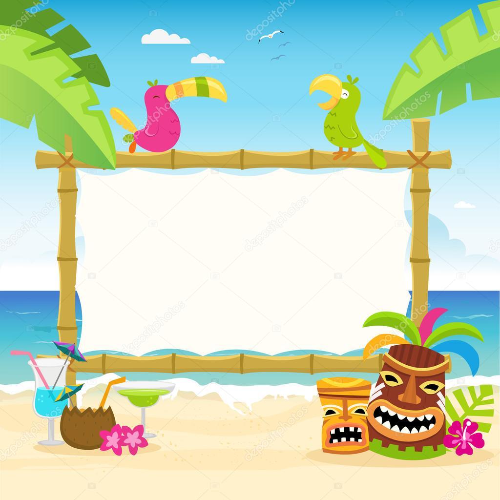 Hawaiian Billboard Illustration