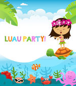 Luau Party Girl