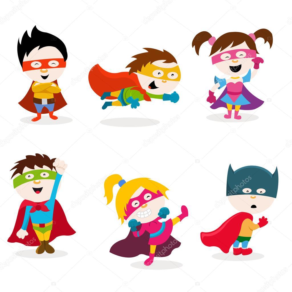 Super Kids Set — Stock Vector © PinarInce #110922814