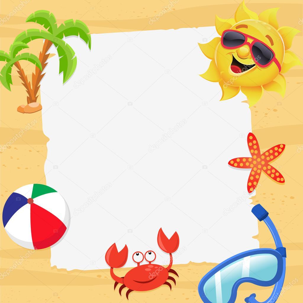 cute summer template illustration stock vector pinarince 71488555