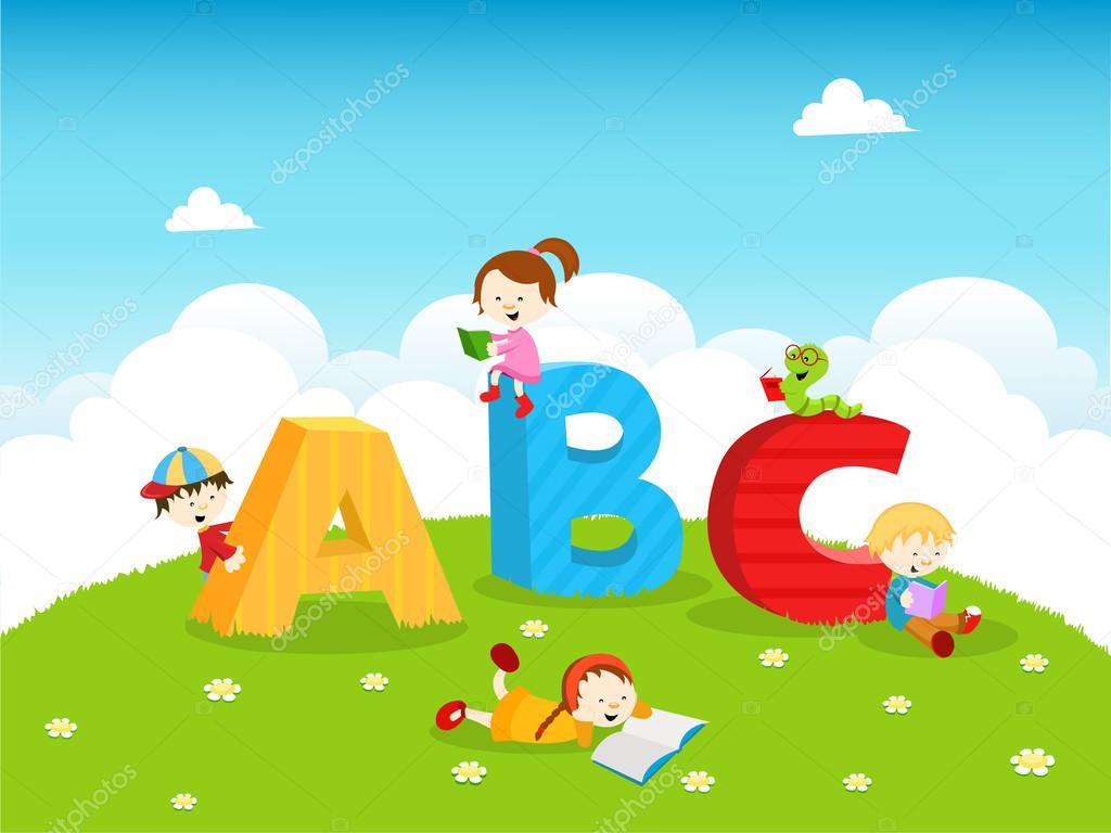 ABC Kids Stock Illustration