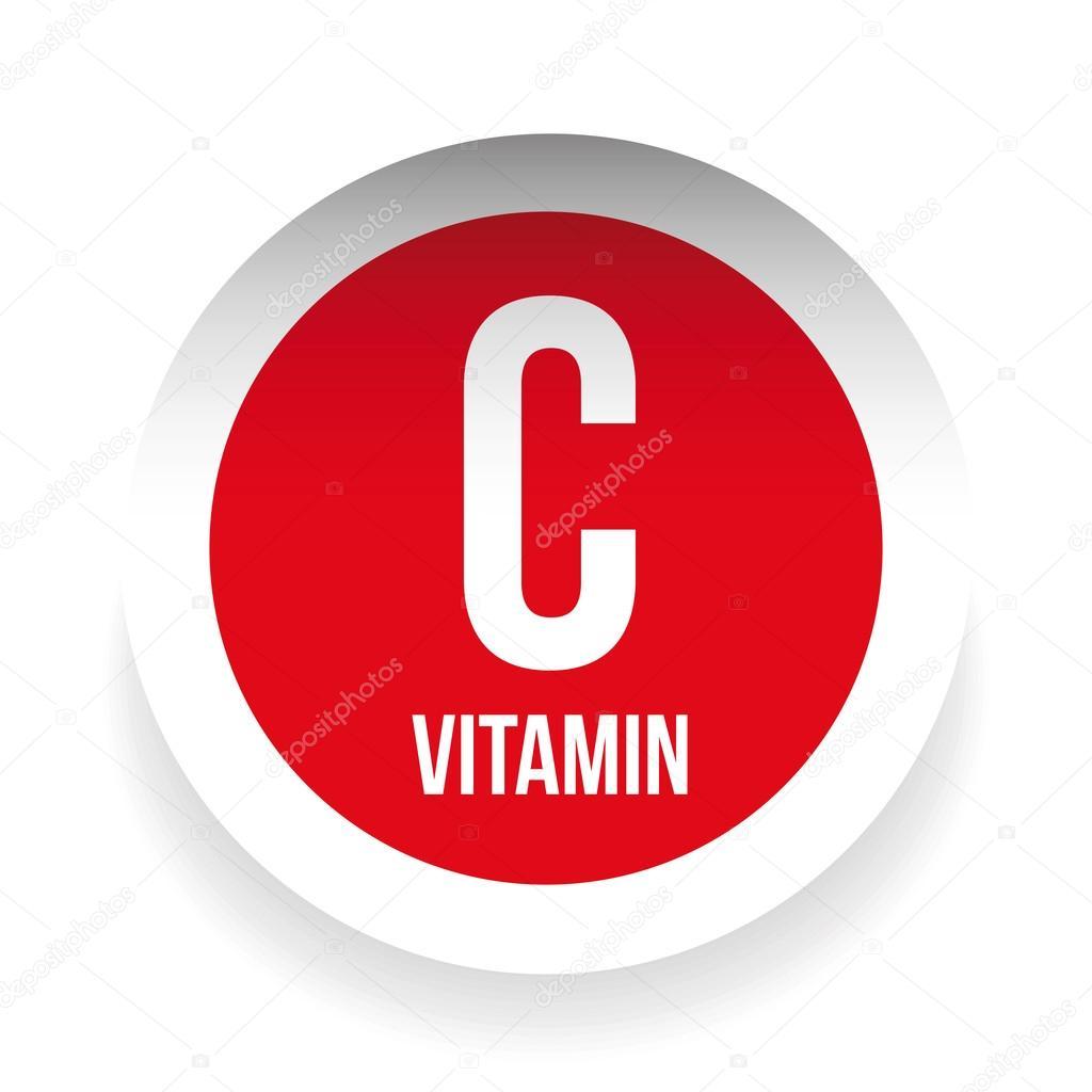 Vitamin C Label Sticker Stock Vector Grounder 116894660
