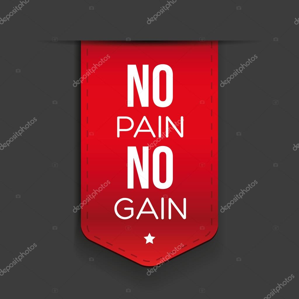No Pain No Gain Workout And Fitness Motivation Quote Stock