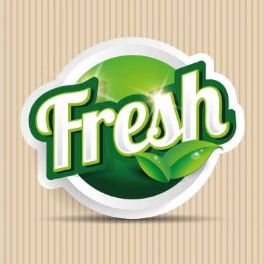 fresh food label, badge or seal