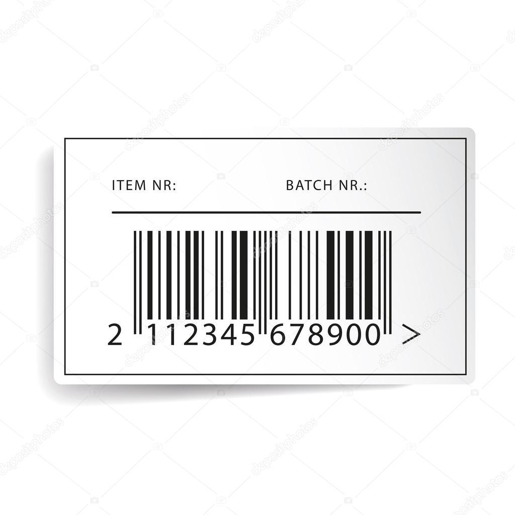 vetor de modelo de etiqueta de c digo de barras vetores de stock grounder 57690121. Black Bedroom Furniture Sets. Home Design Ideas