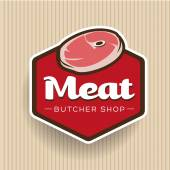 Photo Meat - butcher store label or badge vector