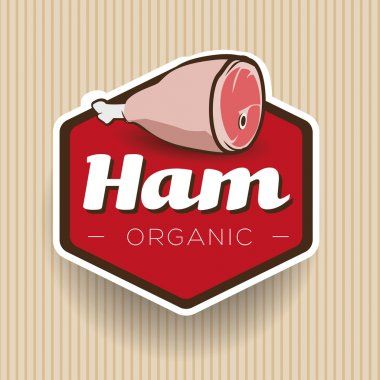 Ham label or badge vector