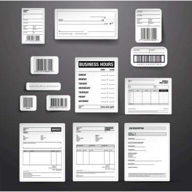 Business template vector set