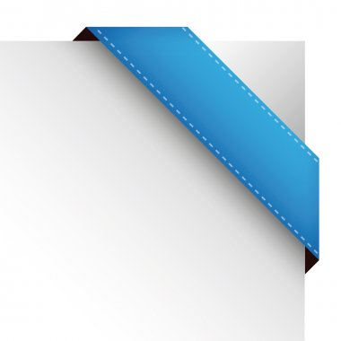 Vector corner ribbon blue clip art vector