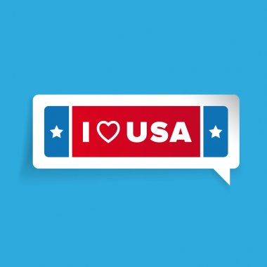 I love USA label vector with stars