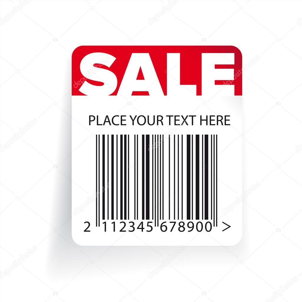Vektor Verkauf Barcode Etiketten Vorlage — Stockvektor © Grounder ...