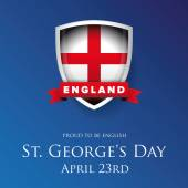 Fotografie St George Day England flag shield banner or poster