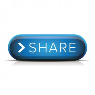 Share button blue vector