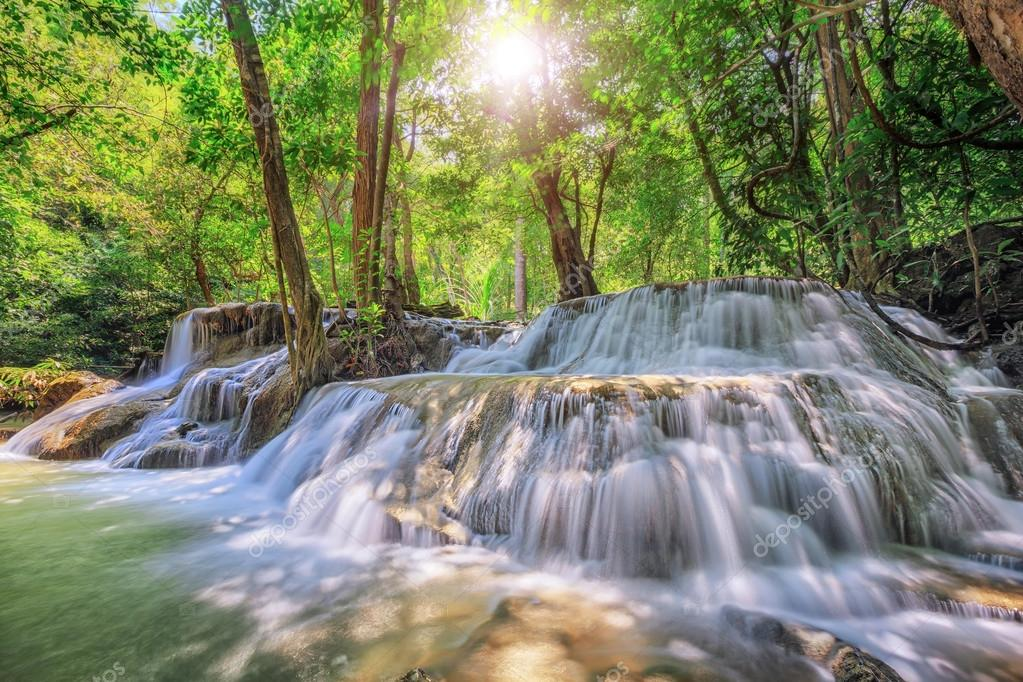 Level five of Waterfall in Kanchanaburi