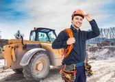 pracovník na staveništi