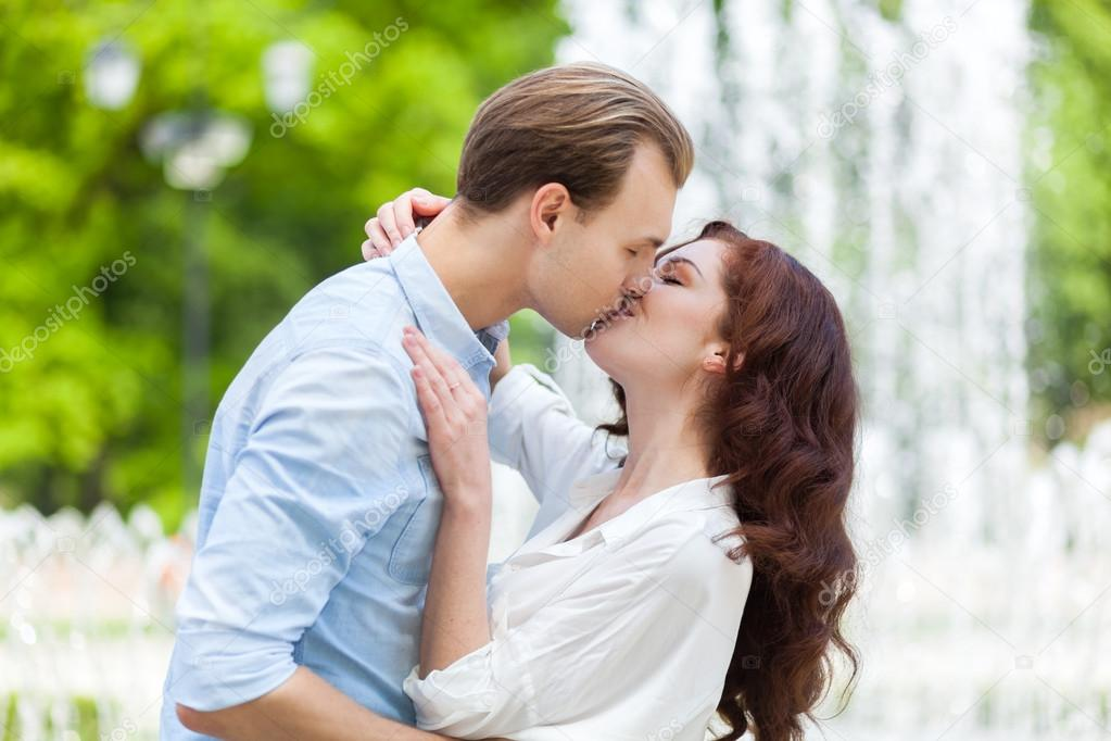 Young Couple Kissing Stock Photo C Minervastock 112288192