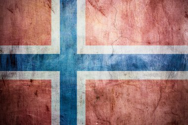 Norway grungy flag