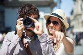 Fotografie turisté fotografování a baví