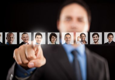Employer choosing right worker