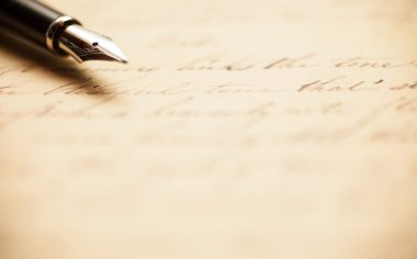 Antique handwritten letter
