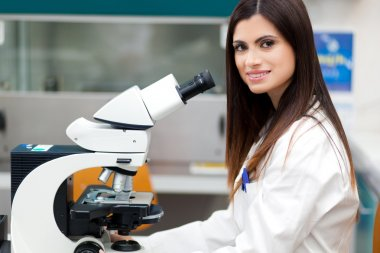 Female researcher working in laboratory