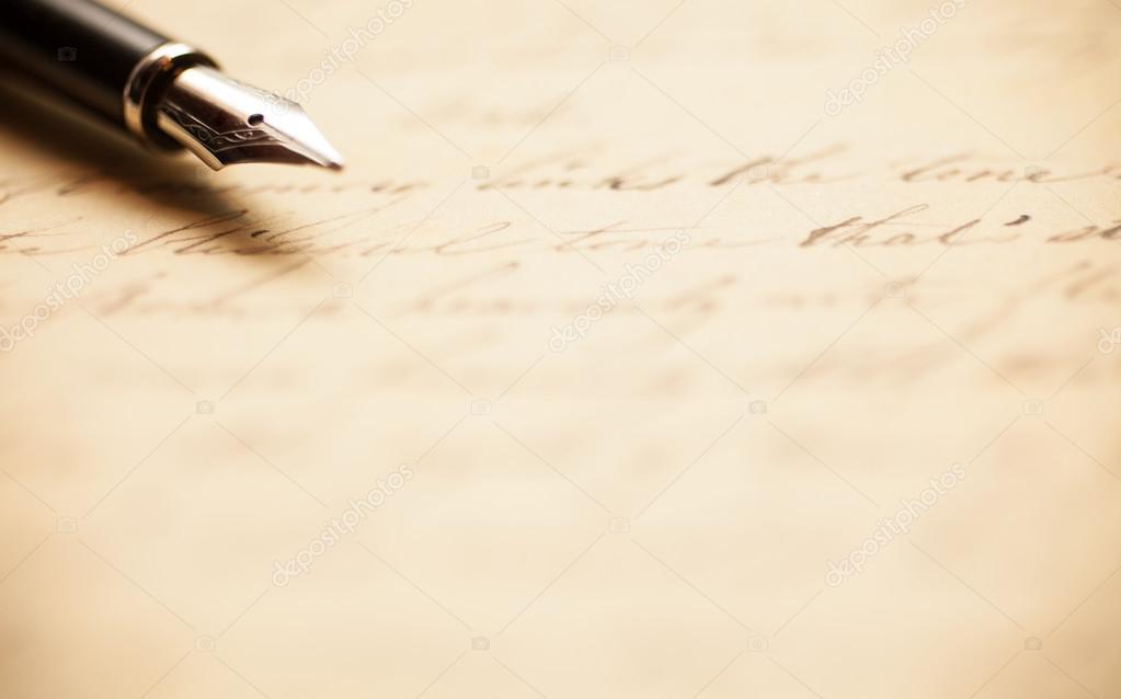 Antique handwritten letter