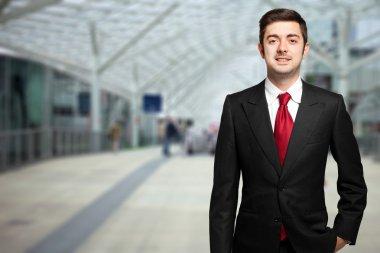 Businessman in an urban setting