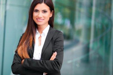 Businesswoman in modern city