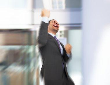 Very happy businessman
