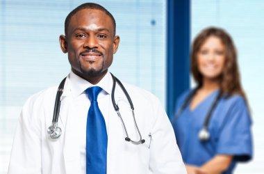 Multi ethnic medical team