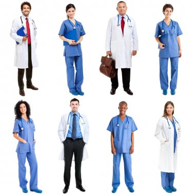 Medical workers in uniform
