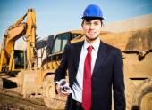 Fotografie pracovník v staveniště