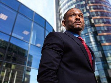 Businessman in an urban environment