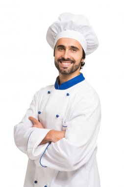 Handsome smiling chef