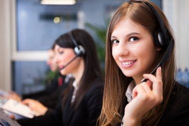 Smiling customer representative at work
