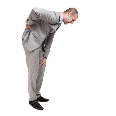 Man suffering for backache