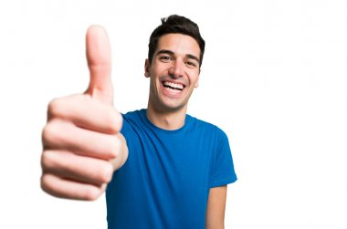 Funny man giving thumbs up