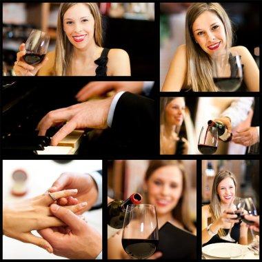 people drinking wine in restaurant